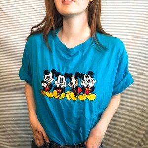 Vintage Mickey Mouse Embroidered Shirt